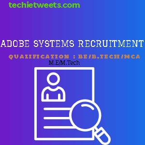 Adobe Systems Recruitment 2020