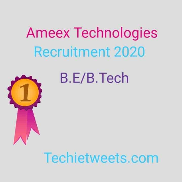 Ameex Technologies Job 2020