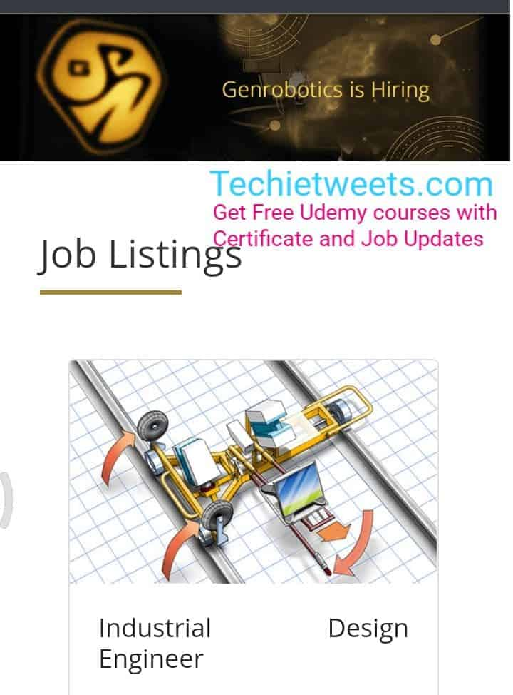 Genrobotics Job Recruitment
