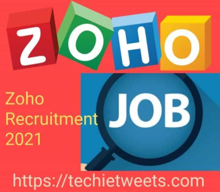 Zoho Job Recruitment 2021