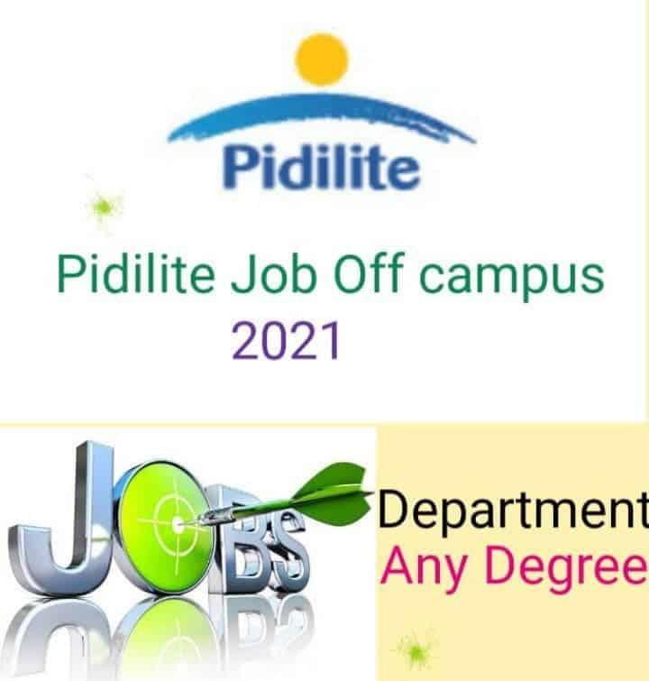 Pidilite Job Recruitment 2021