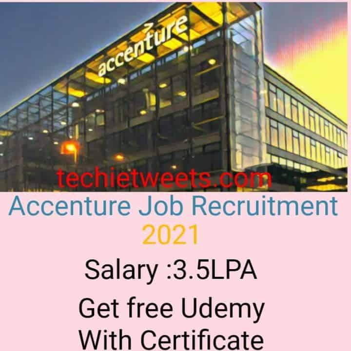 Accenture Job Recruitment 2021