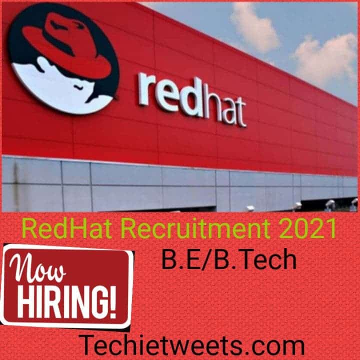 Red Hat Job recruitment 2021