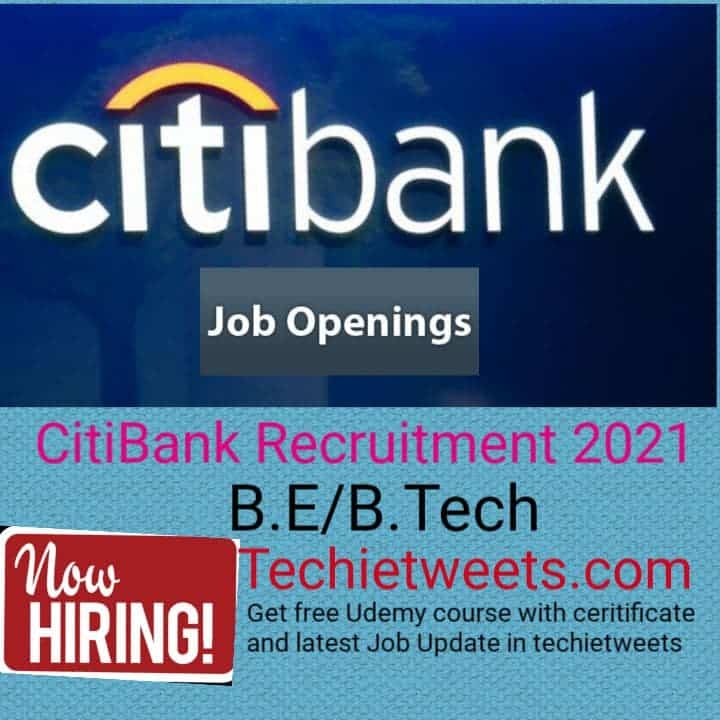 Citibank Job recruitment 2021