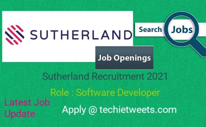 Sutherland Job Recruitment 2021