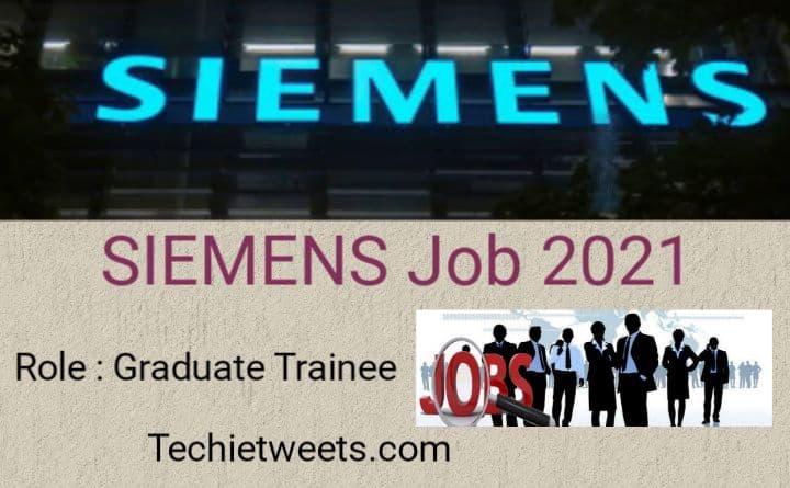 Siemens Job Recruitment 2021