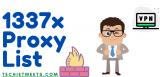 100% Working 1337x Mirror Sites-1337x Proxy List For 2021