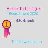 Ameex Technologies Job 2020 | Automation Testing | BE/B.Tech