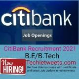 Citibank Job Recruitment 2021   Software Engineer   BE/B.Tech/ME/M.Tech