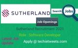 Sutherland Job Recruitment 2021   Associate Professional – Software Developer   BE/B.Tech/ME/M.Tech/MCA