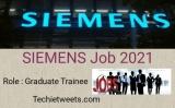 Siemens Job Recruitment 2021    Graduate Trainee   Apply Now