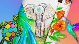 100% Free-Art for Beginners and Kids: 8 Drawing and Mixed-Media Projects